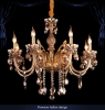 люстра PREMIUM Ambra 513/8 золото/янтарный хрусталь купить