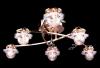 люстра галогенная с ПДУ Halogen 5319/6 золото, белая подсветка купить