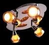 светильник потолочный SPOTS 1911-4 хром/желтый купить