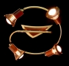 светильник потолочный SPOTS Ultra spot 39619/4 золото купить