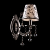 бра хрустальное EGYPT CRYSTAL 1243/1 черный жемчуг/дымчатый хрусталь купить