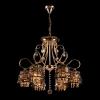 люстра хрустальная EGYPT CRYSTAL 3446/6 золото/тонированный хрусталь купить