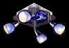 светильник потолочный SPOTS 1911-4 хром/синий купить
