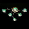 Купить: люстра галогенная HALOGEN 4860/6 золото/зеленый, синий, голубой