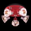 светильник SPOTS 25333/5 хром/красный купить